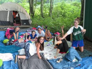 Girls Tent at Camp