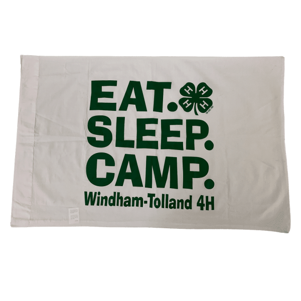 4-H camp pillowcase